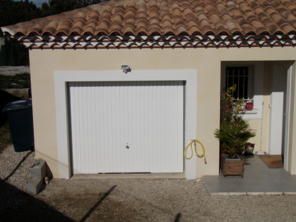 porte garage blanc renovation